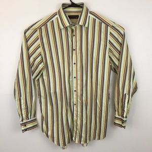 Etro Milano Striped Button Front Shirt size 46
